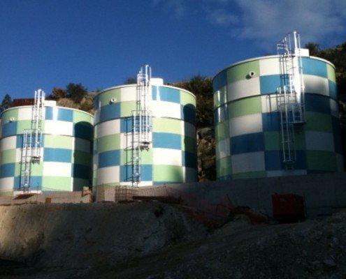 Cantera-Miramontes: Depósitos de agua